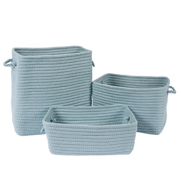 Modern Farmhouse 3-Piece Basket Set - Frost