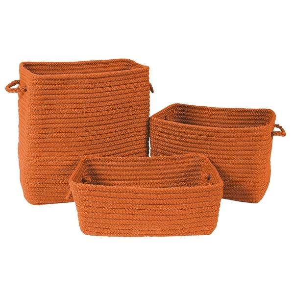 Modern Farmhouse 3-Piece Basket Set - Tangerine