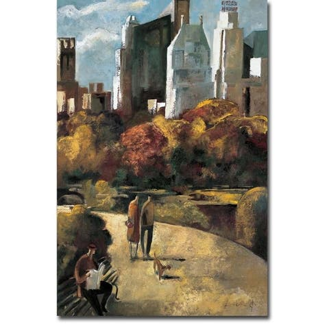 Central Park by Didier Lourenco Gallery Wrapped Canvas Giclee Art (18 in x 12 in, Ready to Hang)