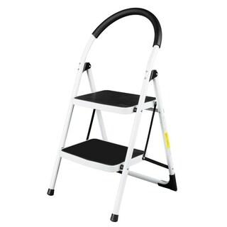 Folding 330Lbs Heavy Duty Stool Aluminum Lightweight 2 Step Ladder