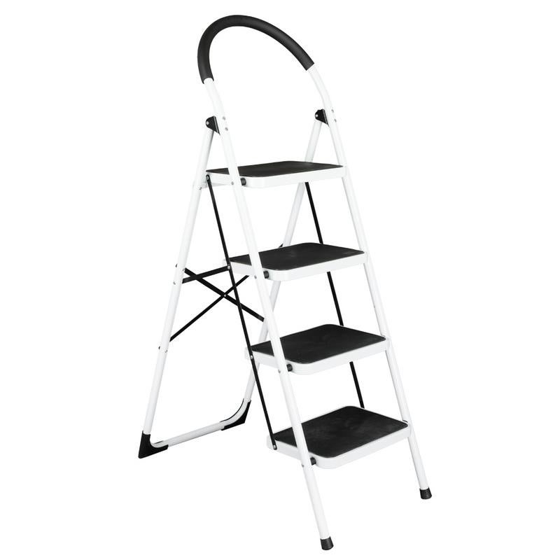 Groovy Folding 330Lbs Heavy Duty Safety Stool Lightweight 4 Step Ladder Pabps2019 Chair Design Images Pabps2019Com