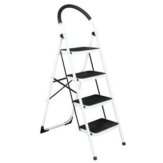 Shop Ybm Home Lightweight White Folding 3 Step Ladder
