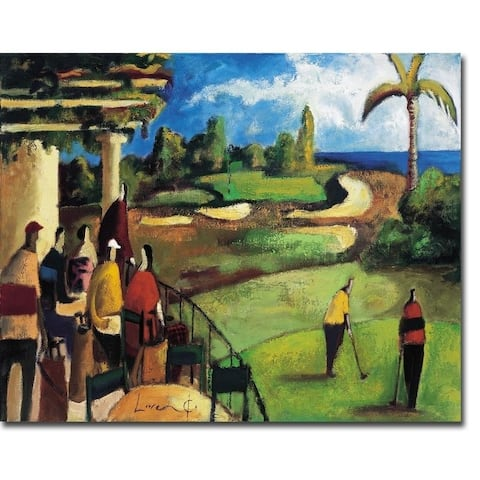 Vistas al Hoyo (Views of the Hole) by Didier Lourenco Gallery Wrapped Canvas Giclee Art (12 in x 15 in, Ready to Hang)