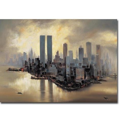 Reflections of Manhattan by Alexander Moore Gallery Wrapped Canvas Giclee Art (12 in x 16 in, Ready to Hang)