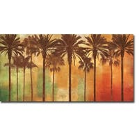 Palm Paradise by John Seba Gallery Wrapped Canvas Giclee Art (12 in x 24 in, Ready to Hang)