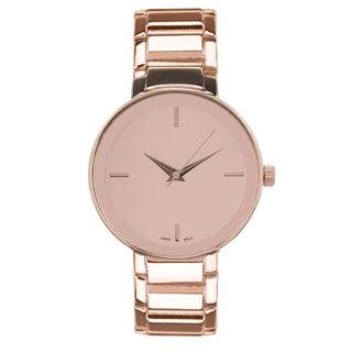 Covet Women's 'Aria' Rose Gold Tone Mirror Dial Quartz Bracelet Watch