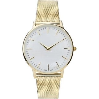 Covet Women's 'Sandra' Gold Magnetic Mesh Strap Quartz Watch