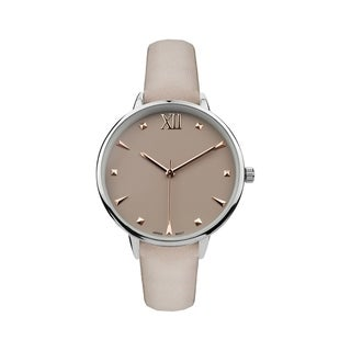 Covet Women's 'Nicole' Taupe Strap Quartz Watch