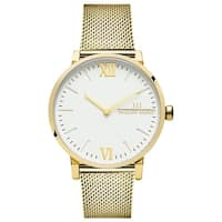 McCoy Road 'Seven50' Stainless Steel Gold Tone Mesh Strap Watch