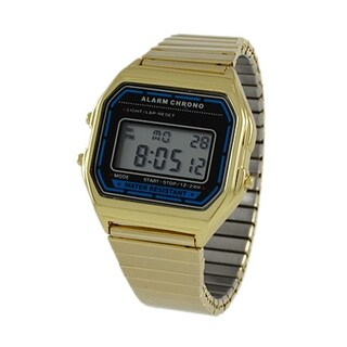 Covet Women's 'Lucy' Gold Tone Digital Expansion Strap Watch
