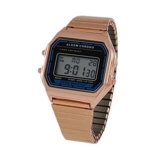 Covet Women's 'Lucy' Rose Gold Tone Digital Expansion Strap Watch