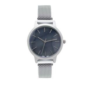 Covet Women's 'Amelia' Silver Tone Magnetic Mesh Strap Quartz Watch
