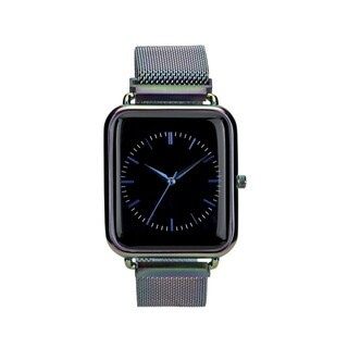 Covet Women's 'Harper' Multi Iridescent Magnetic Mesh Strap Quartz Watch