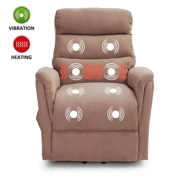 Shop Lifesmart Ultra Comfort Brown Lift Chair With Heat