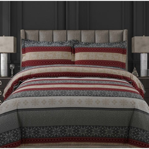 Soft and Cozy Flannel 170-GSM Solid or Printed Oversized Duvet Set