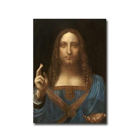 Salvatore Mundi by Leonardo da Vinci Gallery Wrapped Canvas Giclee Art (20 in x 14 in, Ready to Hang)