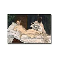 Olympia by Edourd Manet Gallery Wrapped Canvas Giclee Art (12 in x 18 in, Ready to Hang)