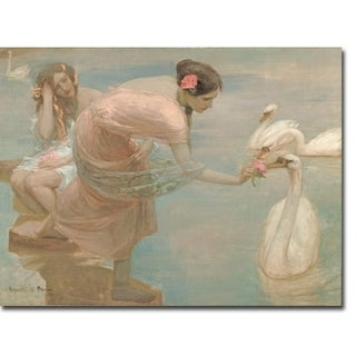 A Summer Morning by Rupert Bunny Gallery Wrapped Canvas Giclee Art (12 in x 16 in, Ready to Hang)