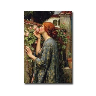 The Soul of the Rose by John Waterhouse Gallery Wrapped Canvas Giclee Art (18 in x 12 in, Ready to Hang)