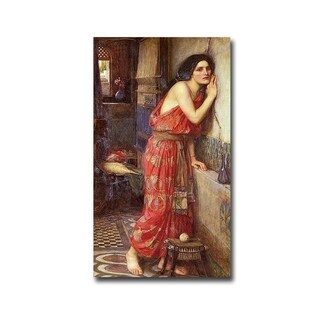 Thisbe, 1909 by John Waterhouse Gallery Wrapped Canvas Giclee Art (21 in x 12 in, Ready to Hang)