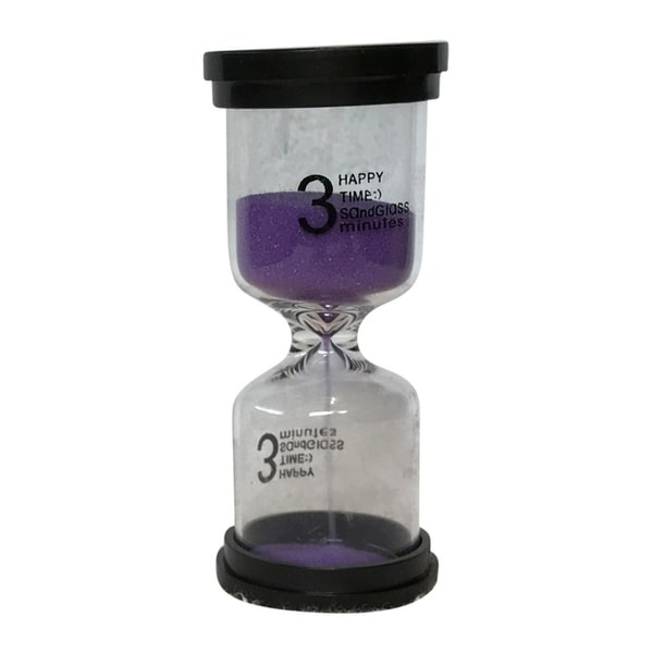 Shop Creative Motion Decorative 3 Minutes Sand Timer With Purple