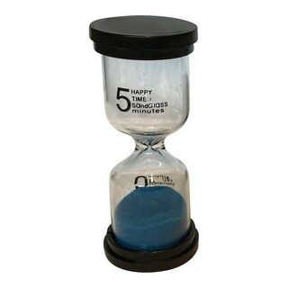 Creative Motion Decorative 5 Minutes Sand Timer with Blue Sands