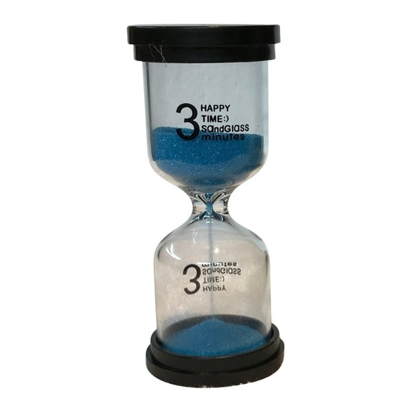 shop creative motion decorative 3 minutes sand timer with blue sands
