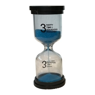 Creative Motion Decorative 3 Minutes Sand Timer with Blue Sands