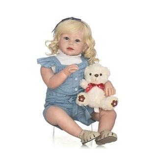 "28"" Kids Gift Soft Silicone Reborn Toddler Girl Baby Doll"