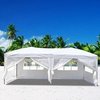 10'X20'POP UP Wedding Party Folding Gazebo Canopy Tent W/6 Walls
