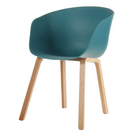 Danish Mid-Century Modern Side Chair, Curved Wood Legs