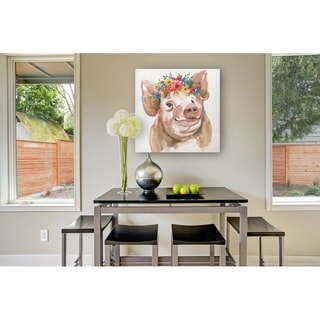Royal Pig -Gallery Wrapped Canvas