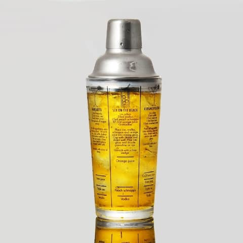 400ml Cocktail Shaker Stainless Steel Shake Jug with Scale Bar Tools