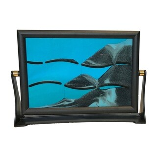 Creative Motion Flip Over Sand Art with Plastic Frame and Glass Panel - Blue