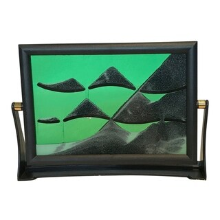 Creative Motion Flip Over Sand Art with Plastic Frame and Glass Panel - Green