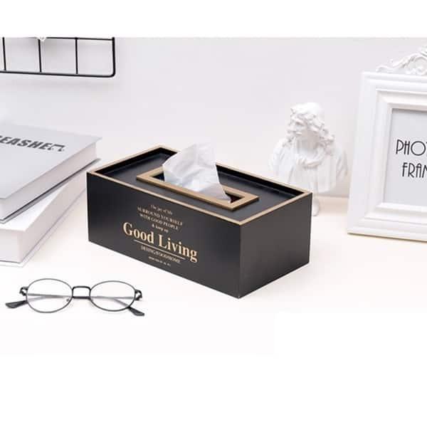 Offices Tissue Box Home Decor European Desk Organizer Moistureproof Storage Case
