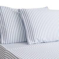 HONEYMOON HOME FASHIONS Sheet Set Hypoallergenic Yarn-Dyed