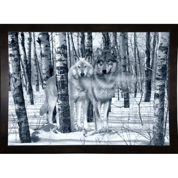 "Snow Shadows Silvertones-GORSEM63264 Print 19""x26.75"" by Gordon Semmens"
