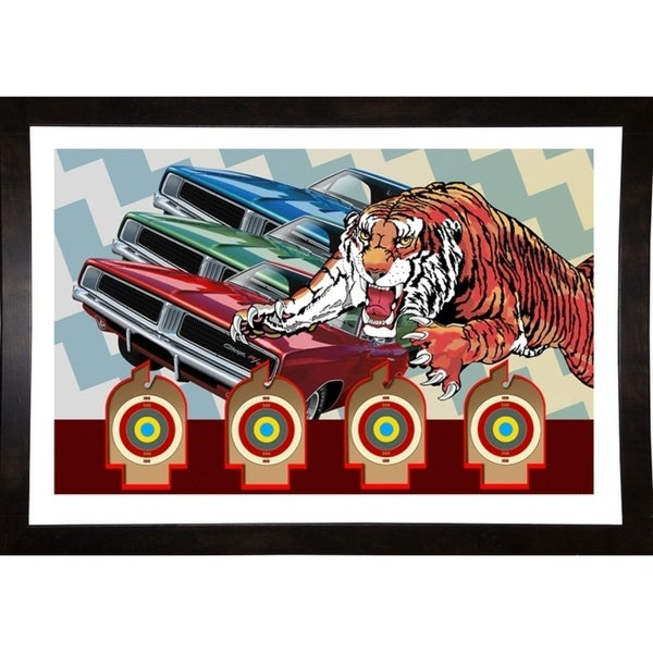 """Tiger Charger Print 24.5""""x36"""" by Terry Pastor -TERPAS272156"""