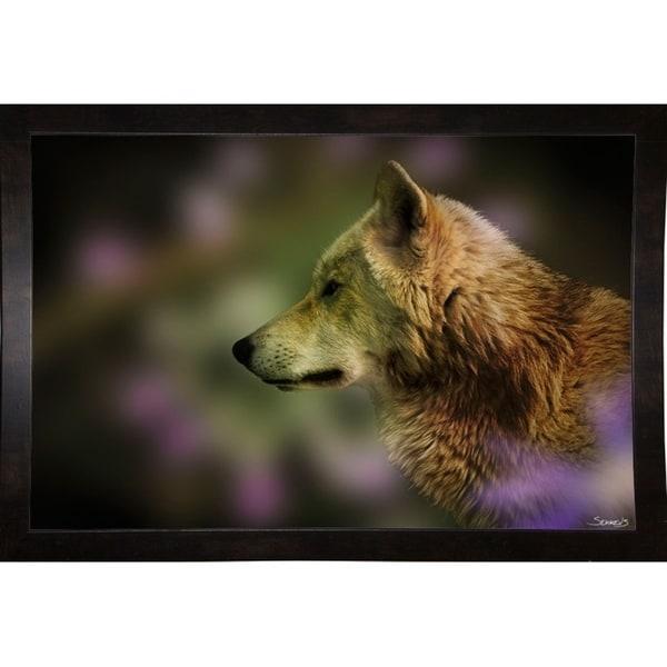 "Wolf Profile HL2-GORSEM107042 Print 8.5""x13"" by Gordon Semmens"