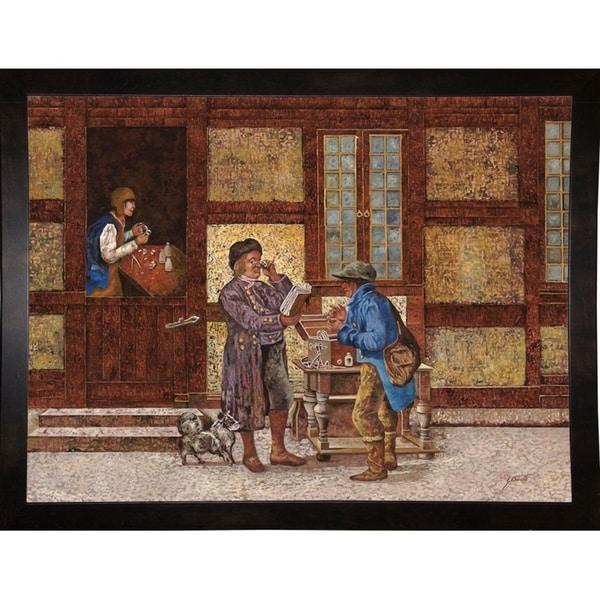 """Leggere Con Gli Occhiali-GUIBOR127796 Print 15.5""""x20.75"""" by Guido Borelli"""