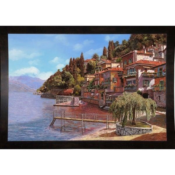 """Varenna on Lake Como-GUIBOR108532 Print 19.75""""x29"""" by Guido Borelli"""