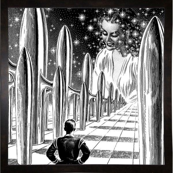 "The Door Print 36.25""x36"" by Virgil Finlay -VIRFIN272209"