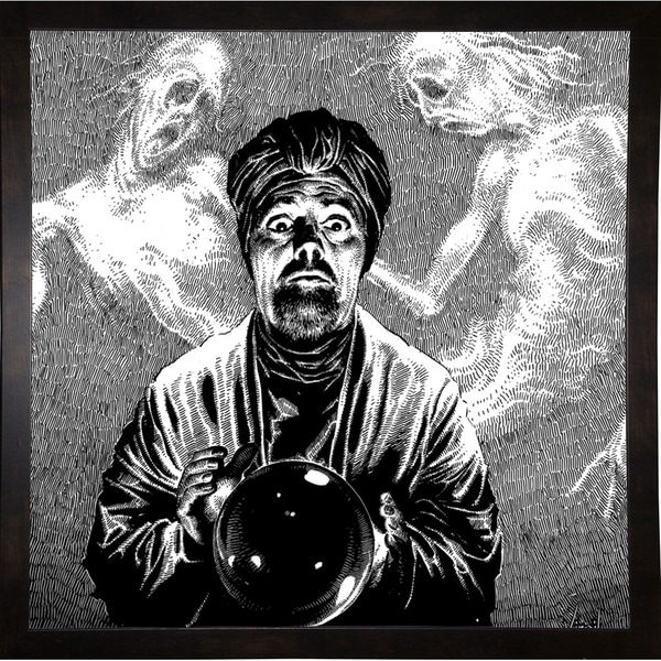 """Fifth Candle Print 36""""x36"""" by Virgil Finlay -VIRFIN272199"""