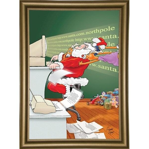 """153360 Internet Santa-FSPEAR132398 Print 7""""x4.75"""" by Frank Spear"""