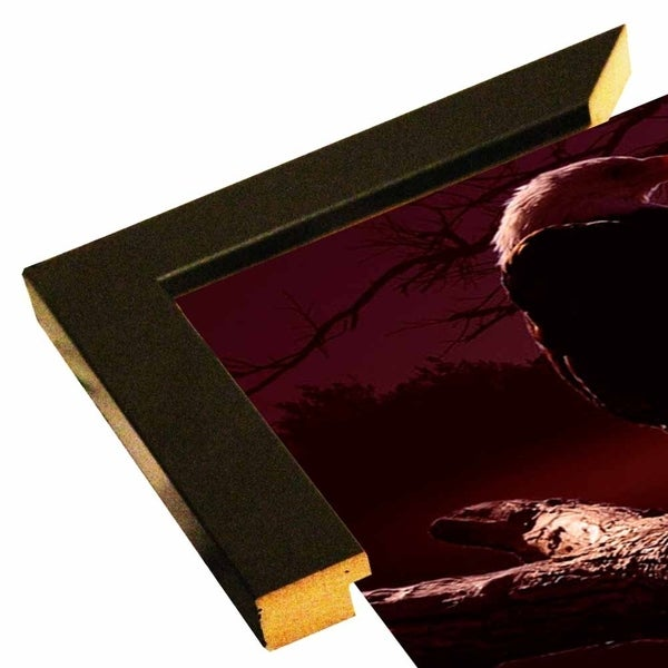 "Eagle Sunrise-GORSEM85071 Print 13.5""x28"" by Gordon Semmens"