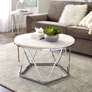 Harper Blvd Lola Faux Stone Round Coffee Table