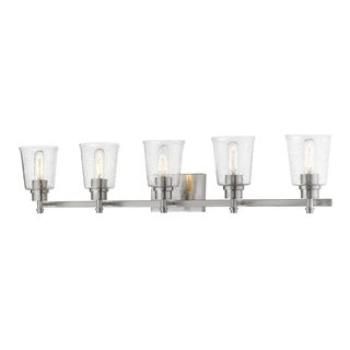 Avery Home Lighting Bohin Steel/Glass 5-light Vanity Fixture