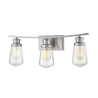 Avery Home Lighting Gaspar Steel and Glass 3-light Vanity Bar