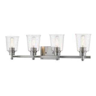 Avery Home Lighting Bohin Black/Grey Steel/Glass 4-bulb Vanity Light Fixture